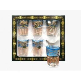6 Marokkanische/Orientalische Teegläser Blau Silber